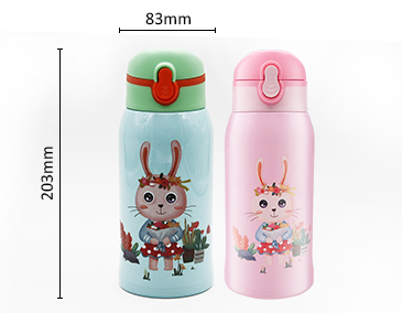 Hot Sale Cute 550ml double wall insulate metal 304 stainless steel water bottle for kids
