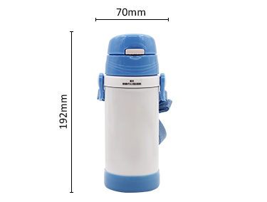 12 oz vacuum insulated stainless steel kids drink bottle with straw