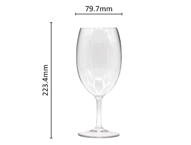 BPA Free High Quality Clear Unbreakable Reusable Stemless Plastic Champagne Wine Glasses