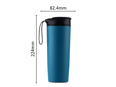 Bpa free hot selling double wall never falling down suction mug