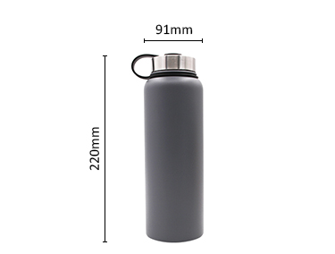 Stainless Steel Insulated Water Bottle - Cold 24 Hrs & Hot 12 Hrs | Reusable Wide Mouth
