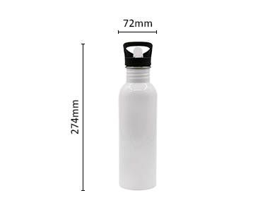 Single Wall Stainless Steel Water Bottle, Straw Lid with Handle or Bite Valve Top