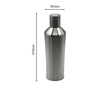 Double Wall Stainless Steel Vacuum Sealed Stainless Steel Wine Bottle 700ml Customized Color