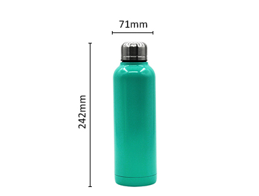 Double-Wall Vacuum Insulated Water Bottle, Keeps Drinks Hot for 12 Hours, Cold for 24 Hours