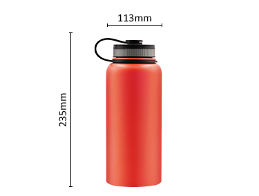 35 oz Insulated Water Bottle for Hot and Cold Beverages