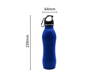 Dark blue 750ml custom single wall 18/8 stainless steel sport outdoor water bottle
